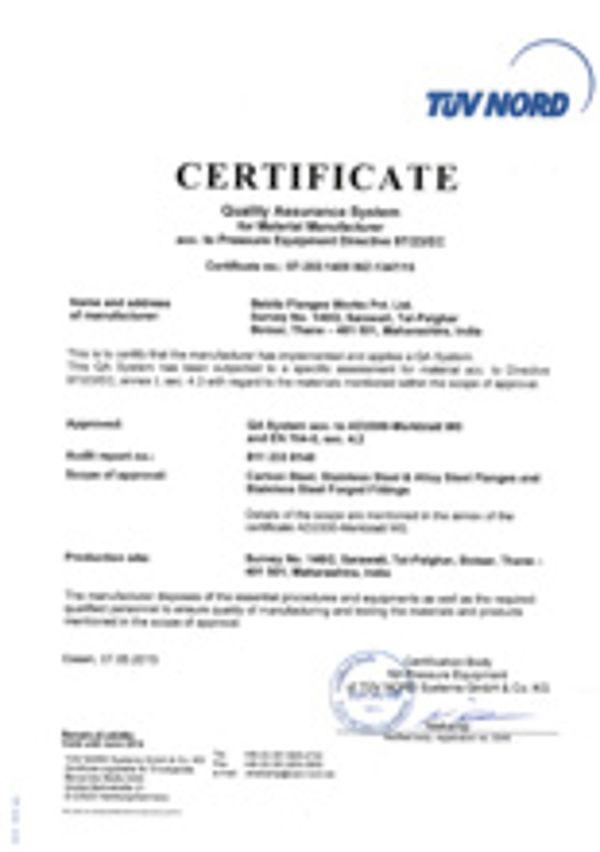 Flanschenwerk Bebitz Download / Zertifikate Indien